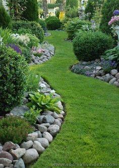 38 Amazing Rock Garden Ideas Try for All Season - DIY Garten Landschaftsbau Landscaping With Rocks, Front Yard Landscaping, Landscaping Ideas, Backyard Ideas, Mulch Landscaping, Backyard Designs, Landscaping Software, Pool Ideas, Landscaping Borders