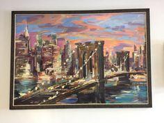 Brooklyn Bridge By IHOR KOROTASH New York Painting, Luxury Sale, Bridge Painting, Brooklyn Bridge, Impressionist, Art Art, Paintings, Ebay, Paint