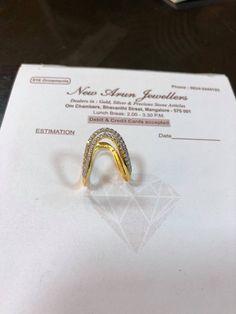 Gold Ring Designs, Gold Bangles Design, Gold Earrings Designs, Gold Jewellery Design, Gold Finger Rings, Ring Finger, Gold Rings, Vanki Ring, Date