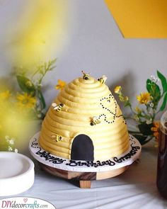 Beehive Cake from a Queen Bee Birthday Party on Kara's Party Ideas Bee Birthday Cake, Bumble Bee Birthday, Girl First Birthday, First Birthday Parties, Birthday Party Themes, First Birthdays, Birthday Bash, Birthday Ideas, Birthday Cakes For Girls