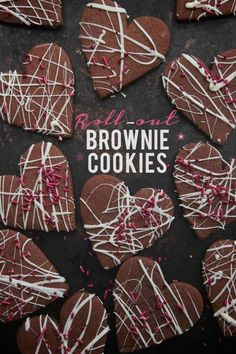 A cookie! A brownie! How about both?! Check out out these Roll-Out Brownie Cookies on shutterbean!
