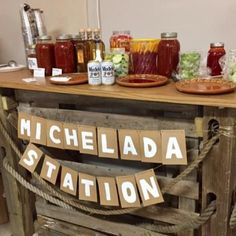 Michelada Station Bar Party Sign DIY