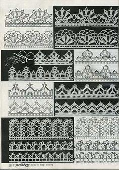 esquemas, croché, crochet, gráficos, reciclagem, costura, barrados, barradinhos, rendas, artesanato, craft
