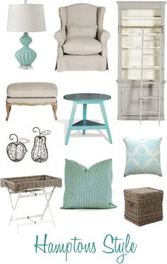 Coastal Style: Hamptons Style - Get The Look Coastal Bedrooms, Coastal Living Rooms, Home And Living, Master Bedrooms, Beach Bedrooms, Blue Bedrooms, Die Hamptons, Hamptons Style Decor, Hamptons Bedroom