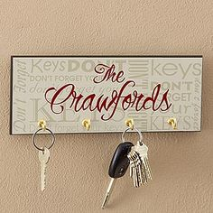 Don't Forget Personalized Key Plaque