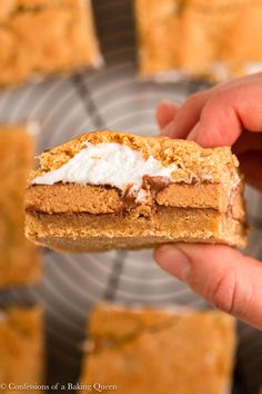 Yummy Treats, Delicious Desserts, Sweet Treats, Yummy Food, Peanut Butter Cup Cookies, Reeses Peanut Butter, Cookie Recipes, Dessert Recipes, Graham Cracker Cookies