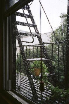 Rain on the deck of my little bohemian apartment.Rain on the deck of my little bohemian apartment. Rainy Mood, Rainy Night, Rainy Days, Rainy Weather, Rainy Sunday, Severe Weather, Cozy Rainy Day, Saturday Sunday, The Garden Of Words