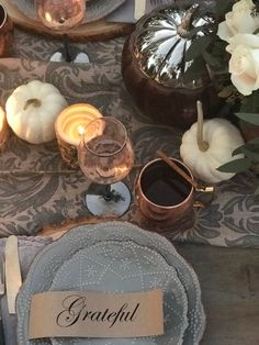 Fall Tablescape with Copper Accents   FREE PRINTABLE!