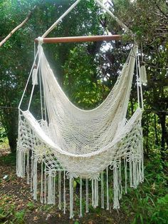 Macrame large hammock chair butterfly party. (ad)