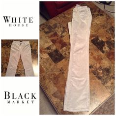 "White House Black Market Skinny BootLeg Pants White House Black Market Pants are Comfortable and Stylish.  These are Skinny BootLeg and fit great. Size 00 Long. Color is Gray. Bedazzled back Pockets. And they have a 5 Pocket Design. These pants are made of 73% Cotton and 25% Rayon and 2% Spandex. Inseam ""33.5. Laying flat ""12.5. Rise ""7.5. Length ""42.5. This item is in Good condition, Authentic and from a Smoke And Pet free home. All Offers through the offer button ONLY. I Will not negotiate…"