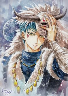 Akatsuki no Yona: Beautiful deviantart of Shin-Ah the blue dragon