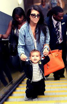 Kourtney Kardashian & Mason
