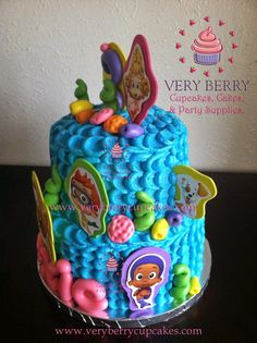 bubble guppies centerpieces   BUBBLE GUPPIES BUTTERCREAM CAKE