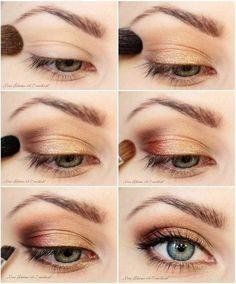 Foto : Ingin mencoba gaya natural yang sedikit berbeda, shading di sudut luar mata akan mempercantik penampilan Anda. | Vemale.com, Halaman 5