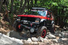 #Jeep XJ on the rocks