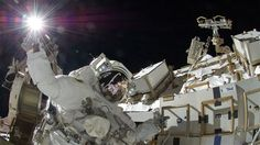 NASA astronaut Sunita Williams during her spacewalk. Credit: NASA