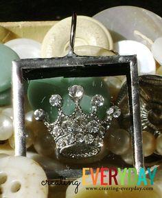 Handmade Soldered Floating Crown Pendant by CreatingEverydayShop