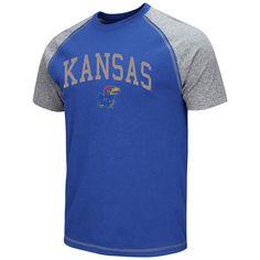 Men's Campus Heritage Kansas Jayhawks Raglan Tee, Size: