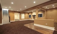 basement ideas - carpet colour