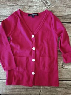 Beau Hudson Cardigan - Dark Pink - Toddlers and Tees