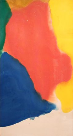 Available for sale from John Berggruen Gallery, Helen Frankenthaler, Reunion (1969), Acrylic on canvas, 67 × 35 in