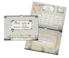 Kalender 2013 mit Feiertagen und Schulferien, groß, A3, Mein tolles neues Leben mit 12 Aufgaben, Wandkalender