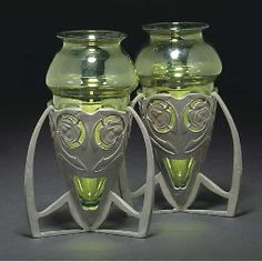ARCHIBALD KNOX; PAIR OF VASES
