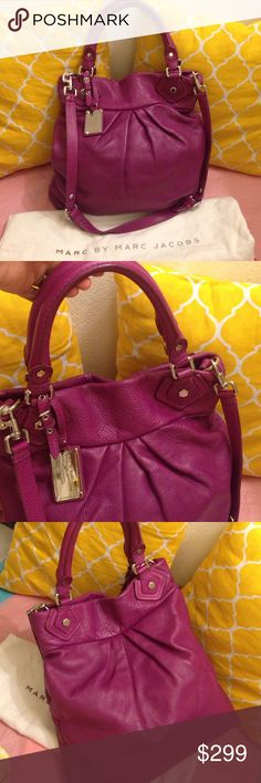 Marc by Marc Jacobs Large Leather Satchel In excellent shape. Light wear only. Large size satchel/hobo bag with removable strap. dustbag included. Authentic Marc by Marc Jacobs. Marc by Marc Jacobs Bags Hobos