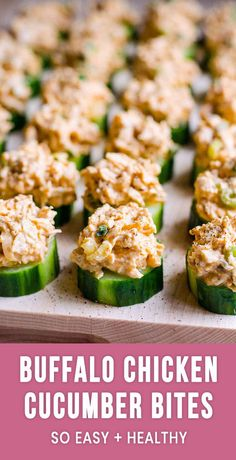 If you don't know what to serve a crowd, make these easy cucumber bites appetizers where spicy creamy chicken meets crunchy juicy cucumber. Everyone will love this recipe, guaranteed! #appetizer #recipe #recipes #cleaneating #lowcarb #keto #healthyfood