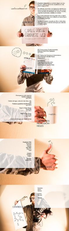 CV graphiste web '14 by Camille Rousset, via Behance