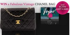 One lucky winner will win a Vintage Chanel Bag worth $3,000 and $1,000 Shopping Gift Card. Enter today!