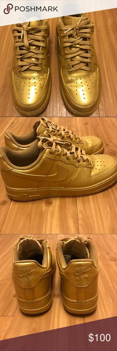 bf034c849ebd6b All gold custom AF1 Very nice all gold custom air Force ones size 9 only  worn
