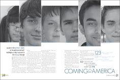 yearbooks with the theme faces - Google Search                This looks really fun, this spread could be used for any club. Or this could be used on the cover, I like how they are all arranged in different sizes.