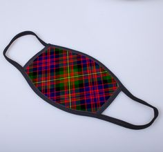 non medical face covering with Carnegie printed tartan - only from ScotClans