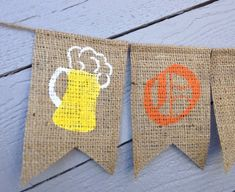 OKTOBERFEST Burlap Banner Oktoberfest Party Decor by AlohaInspired