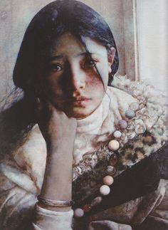 "艾軒 (Ai Xuan), ""Misty Day"".  Wow.  Her eyes hold so much emotion; there are tears in them."