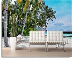 Island Vacation Wall Mural  Http://muralsuperstore.com/catalog/island_vacation_wall_mural.htm | Wall  Murals! | Pinterest | Wall Murals, Beach Wall Murals And ...