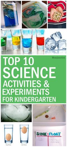 Science Activities For Kindergarten : if you would like to try a few science activities and experiments with your kindergartener at home, read our post below: