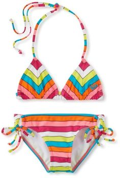 Roxy Kids Girls 7-16 Caliente Sun Tiki Tri Set for only $44.00