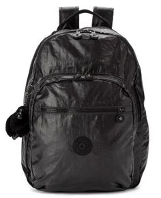 Kipling Seoul Coated Backpack, Lacquer Black, One Size - Click image twice for more info - See a larger selection of school backpacks at http://kidsbackpackstore.com/product-category/school-backpacks/ - kids, kids backpack, school backpack, everyday backpack, school bag, gift ideas, teens backpacks.