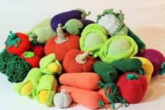 Crochet play food set pcs) Crochet vegetables and fruits Ready to ship… Toddler Kitchen, Fruits And Veggies, Vegetables, Play Food Set, Montessori Toys, Jouer, Crochet For Kids, Toddler Toys, Decoration