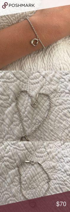Tiffany and co. Bracelet Silver Tiff. And Co. Heart charm bracelet. Barely worn. Tiffany & Co. Jewelry Bracelets