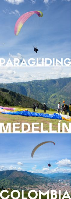 Paraglide over the hills of Medellín, Colombia! Face your fears spinning in the air and enjoy the sublime scenery. #paragliding #Medellin #Colombia