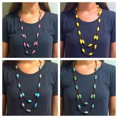 These unique Paper Bead Necklaces are only $12! #JobCreation #Blessed #James1:27