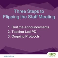Three Steps to making staff meetings more meaningful and productive