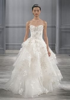 Monique Lhuillier - Bijou Not your typical wedding dress but I love it. Expensive though!! $$$$$