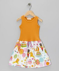Take a look at this Orange Circus Dress - Infant, Toddler & Girls by Alejandra Kearl Designs on #zulily today!