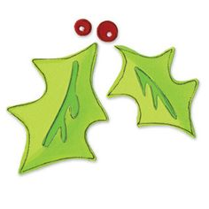 Sizzix Originals Die - Leaves, Holly w/Berries