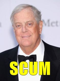 Greedy corrupt racist Koch - The reason that you target somebody's voting rights, is it makes it easier to take away the rest of their rights. ~ ~ ~ http://www.rollingstone.com/politics/news/three-new-ways-the-koch-brothers-are-screwing-america-20140604