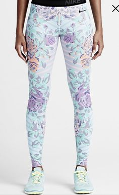 Nike pro floral fade (women's training tights)
